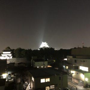 友達の家から見える名古屋城🏯